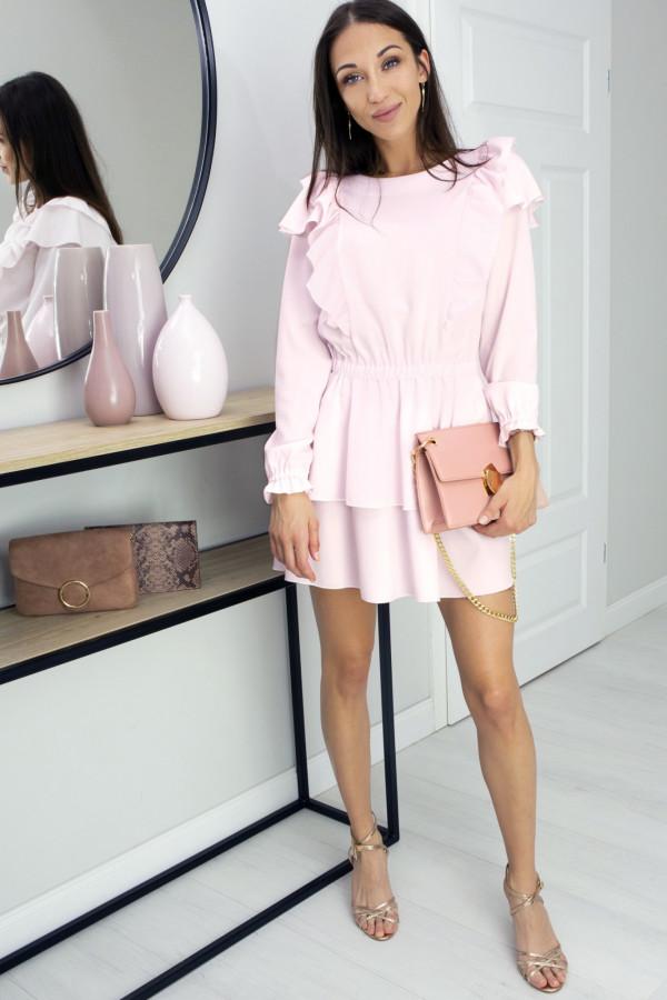 Sukienka z falbankami Lea Pink
