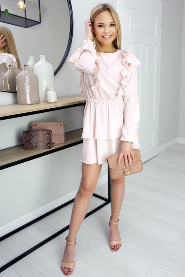 Sukienka z falbankami Lea Peach