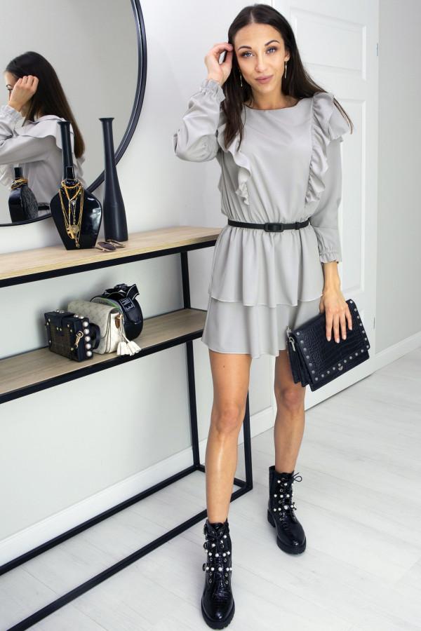 Sukienka z falbankami Lea Grey