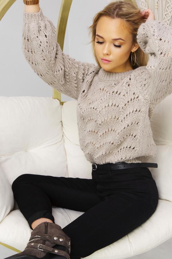 Sweter Damski Sia beżowy