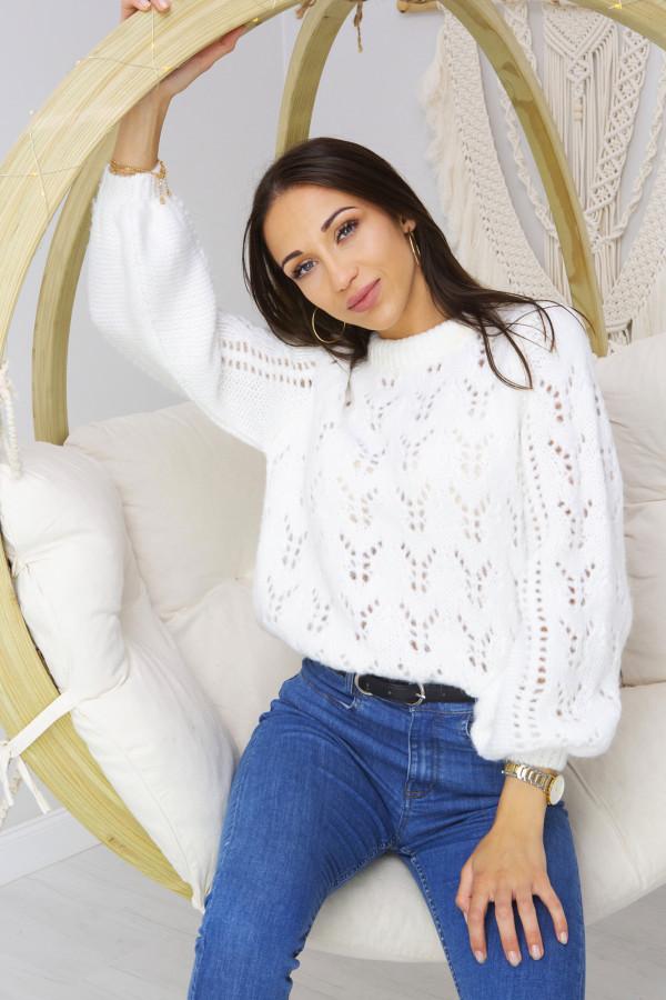 Sweter Damski Naomi Biały