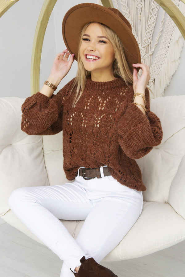 Sweter Damski Naomi cynamon