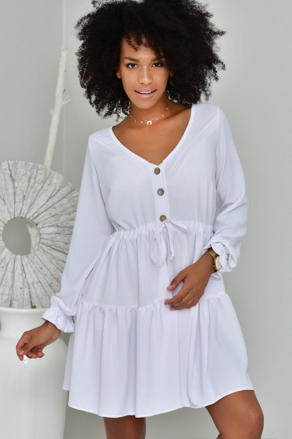 Sukienka Boho biała - oversize