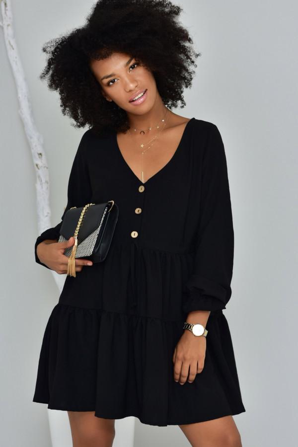 Sukienka Boho czarna- oversize