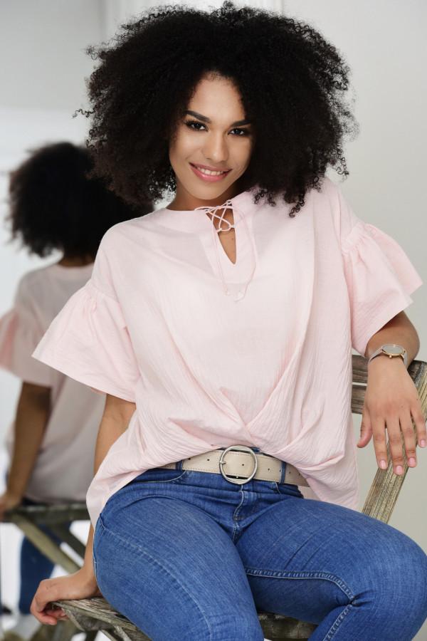 Bluzka NERELLE różowa 011