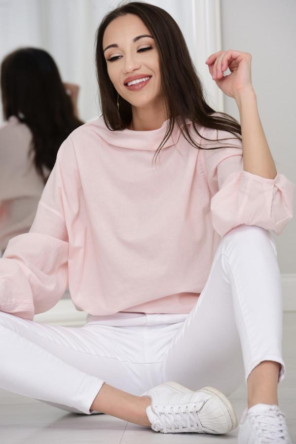 Bluzka oversize Sarah róż 009