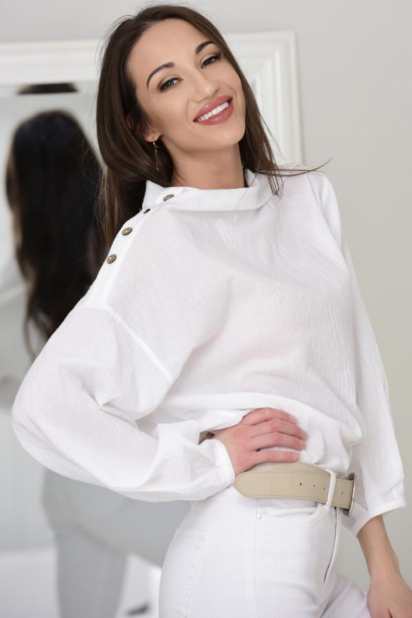Bluzka oversize Sarah biała 009