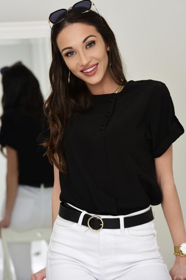 Bluzka z krótkim rękawkiem Hannah czarna 015