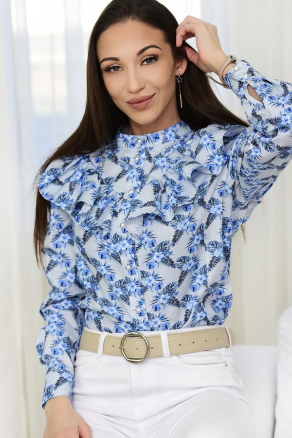 Bluzka EMILY kwiatki niebieskie 001