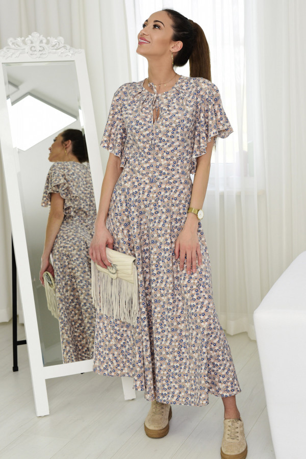 Sukienka Darline różowa z printem model 016