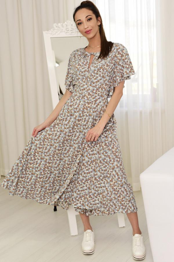 Sukienka Darline beżowa z printem model 016