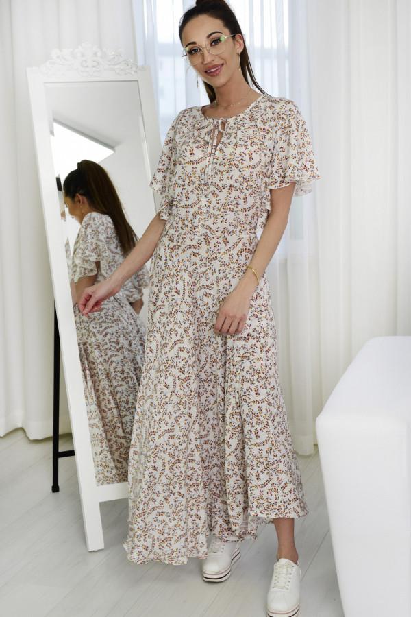 Sukienka Darline biała z printem 016