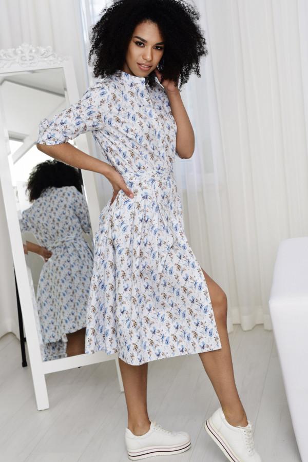Sukienka JULIA biała łączka 002