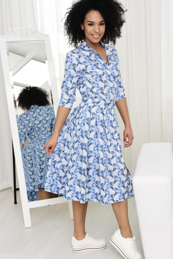 Sukienka JULIA niebieska łączka 002
