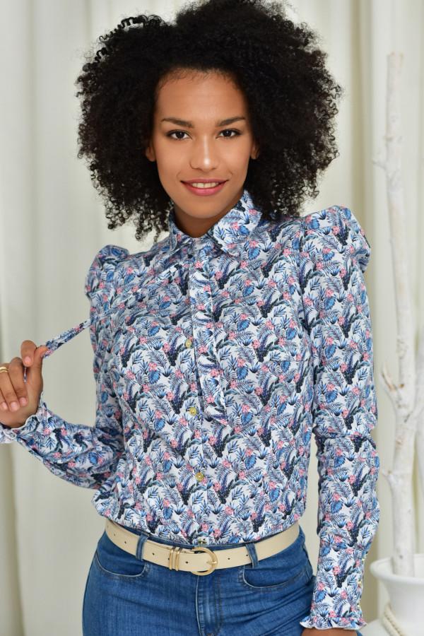 Koszula slim Kate wzorzysta 012