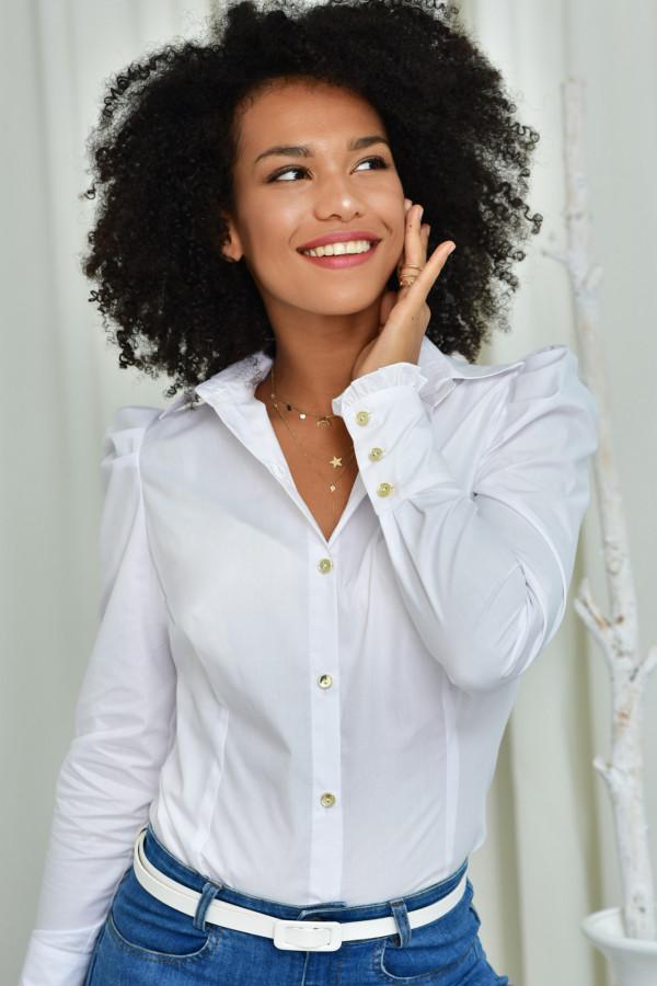 Koszula slim Kate biała 012
