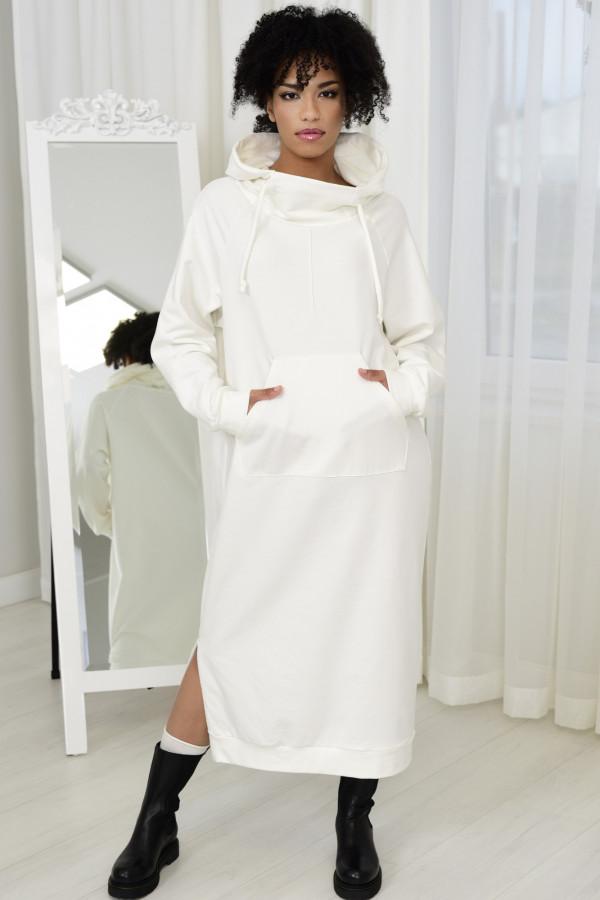 Sukienka dresowa GAJA BIAŁA 034