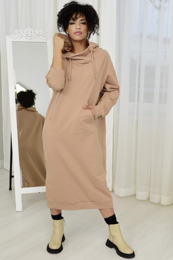 Sukienka dresowa GAJA BEŻOWA 034