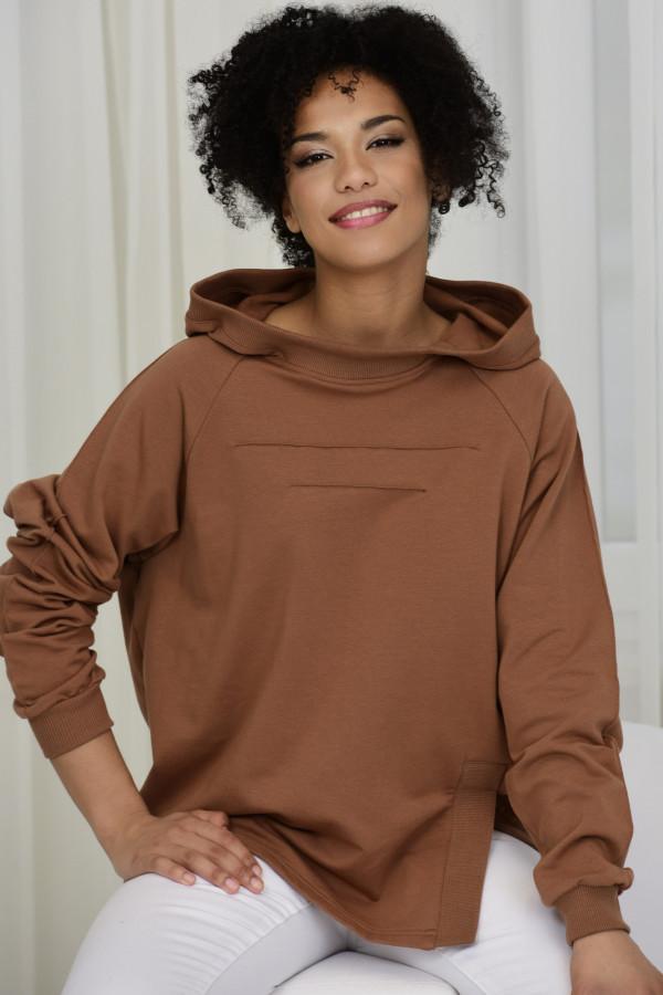 Bluza dresowa LISA CYNAMONOWA 035