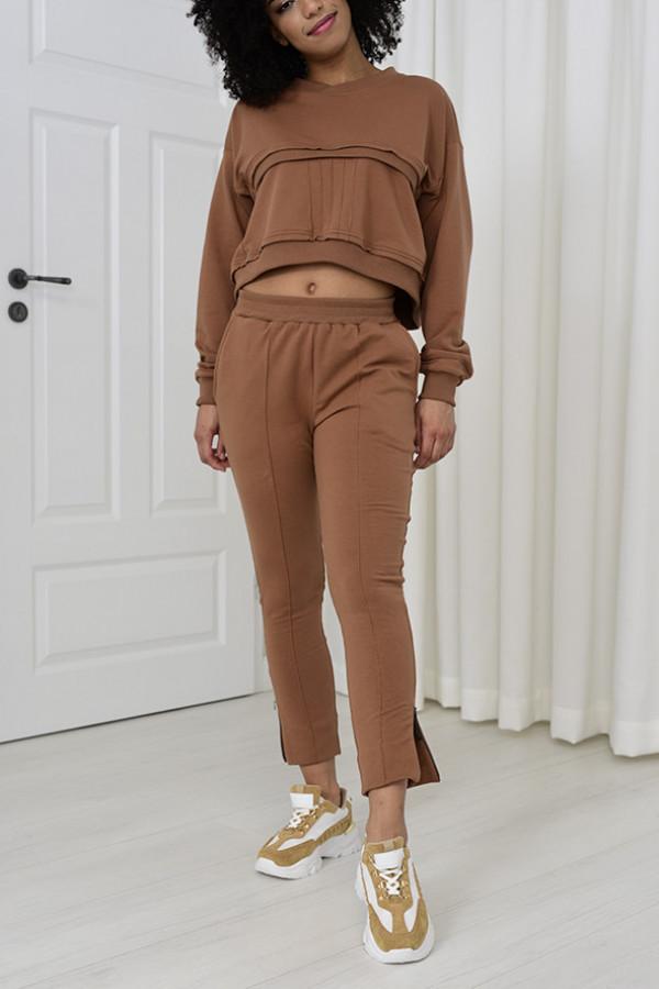 Spodnie dresowe Sheila cynamon 031