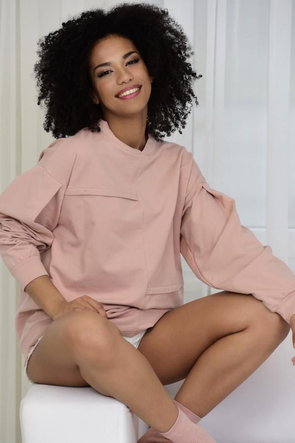 Bluza dresowa Jenny 030 pudrowy róż