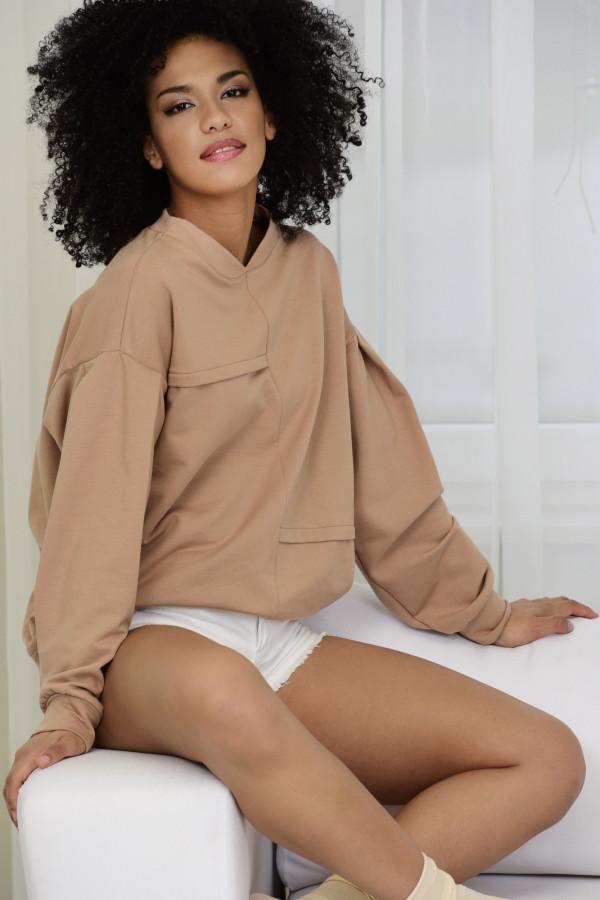 Bluza dresowa Jenny 030 beżowa