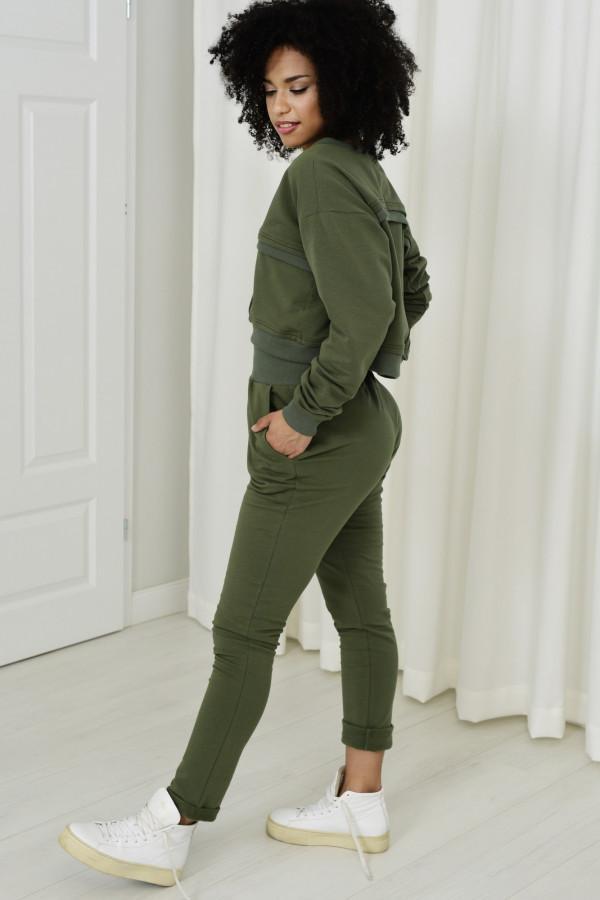 Spodnie dresowe Dagne khaki 036