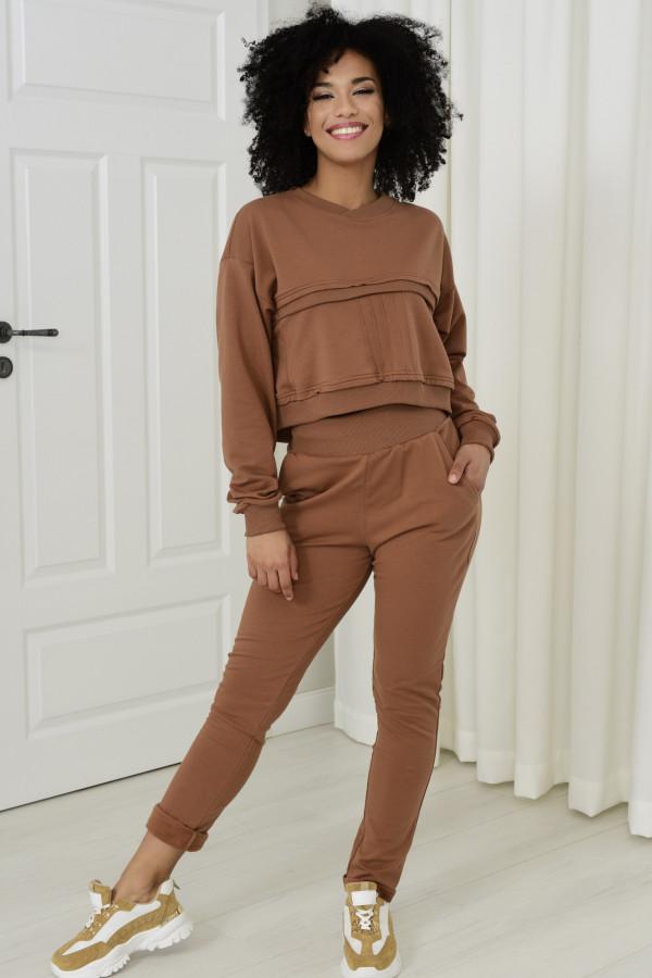 Spodnie dresowe Dagne cynamon 036