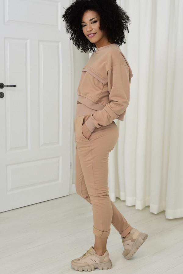 Spodnie dresowe Dagne beż 036
