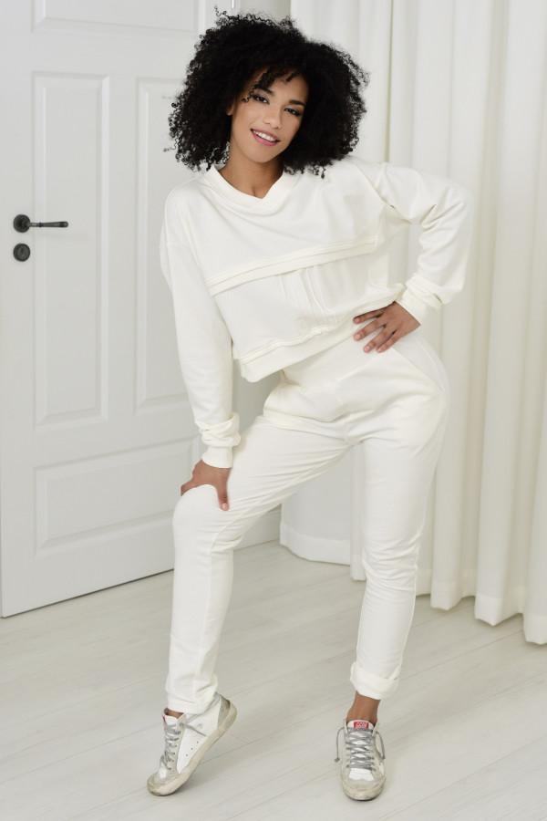 Spodnie dresowe Dagne białe 036