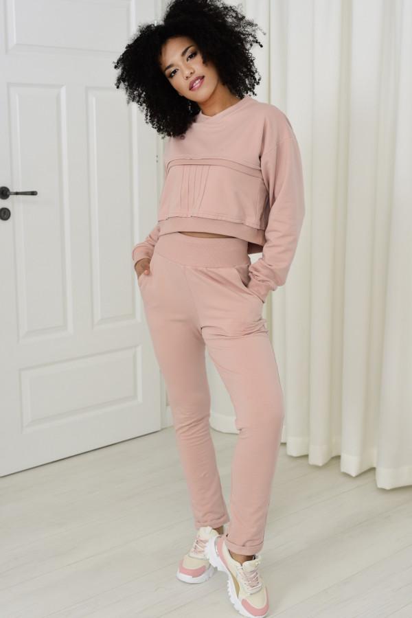 Spodnie dresowe Dagne pudrowy róż 036