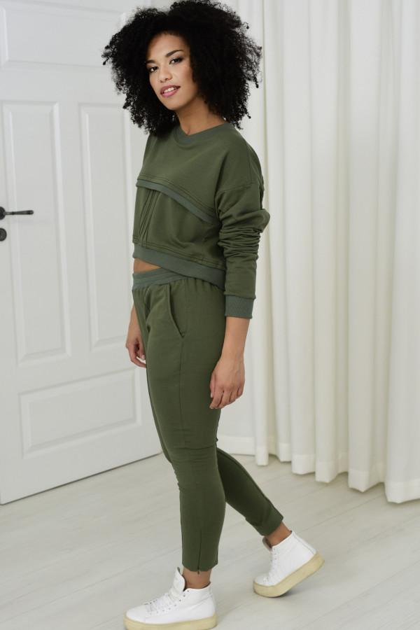 Spodnie dresowe Sheila khaki 031