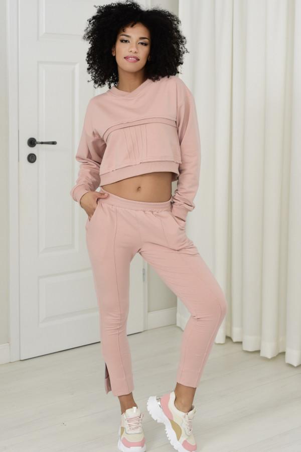 Spodnie dresowe Sheila pudrowy róż 031