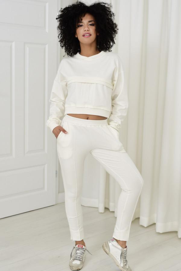 Spodnie dresowe Sheila biały 031