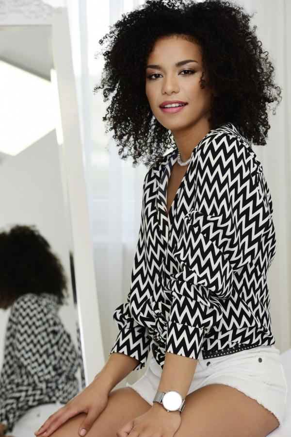 Koszula Selena czarno-biała 024