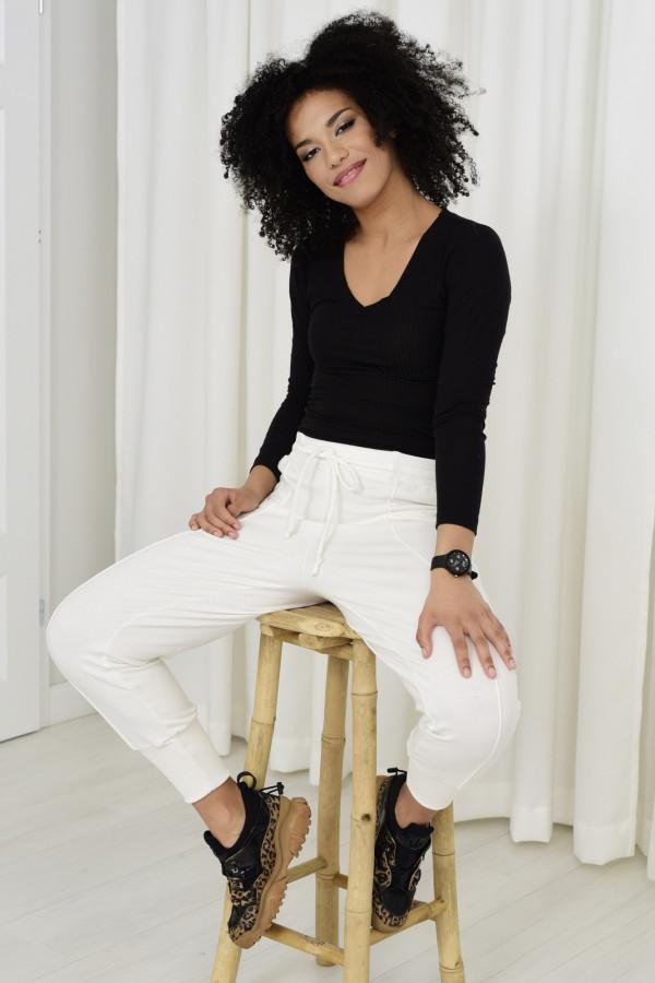 Spodnie dresowe Everly białe 033