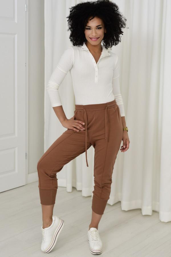 Spodnie dresowe Everly cynamon 033