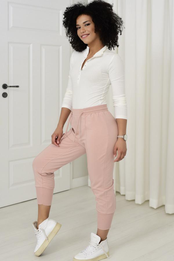 Spodnie dresowe Everly pudrowy róż 033