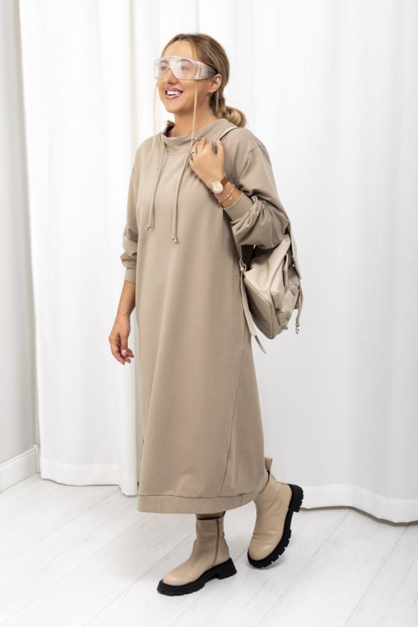 Sukienka dresowa Debby oversize beż 061