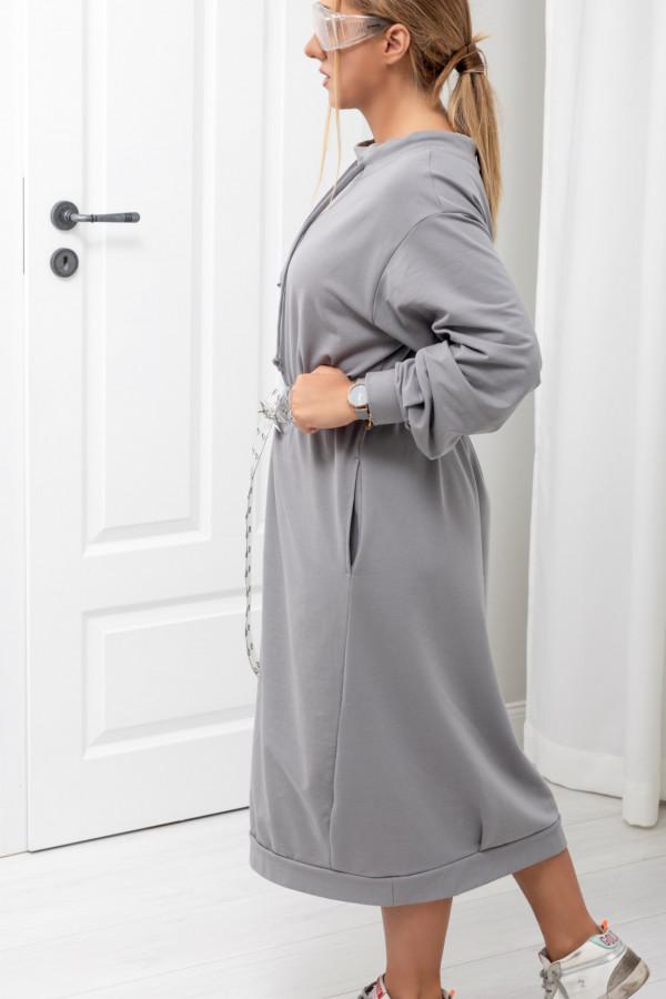 Sukienka dresowa Debby oversize stone 061