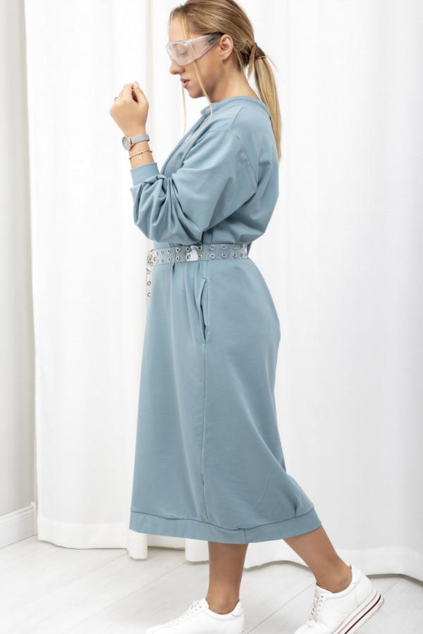 Sukienka dresowa Debby oversize niebieski 061