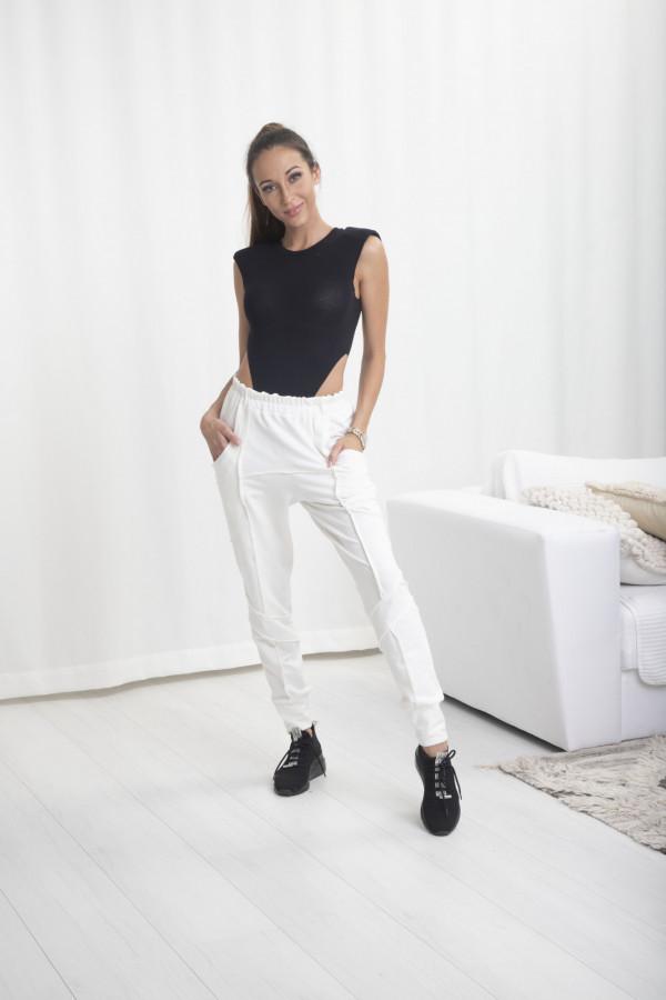Spodnie dresowe Bella biały 065