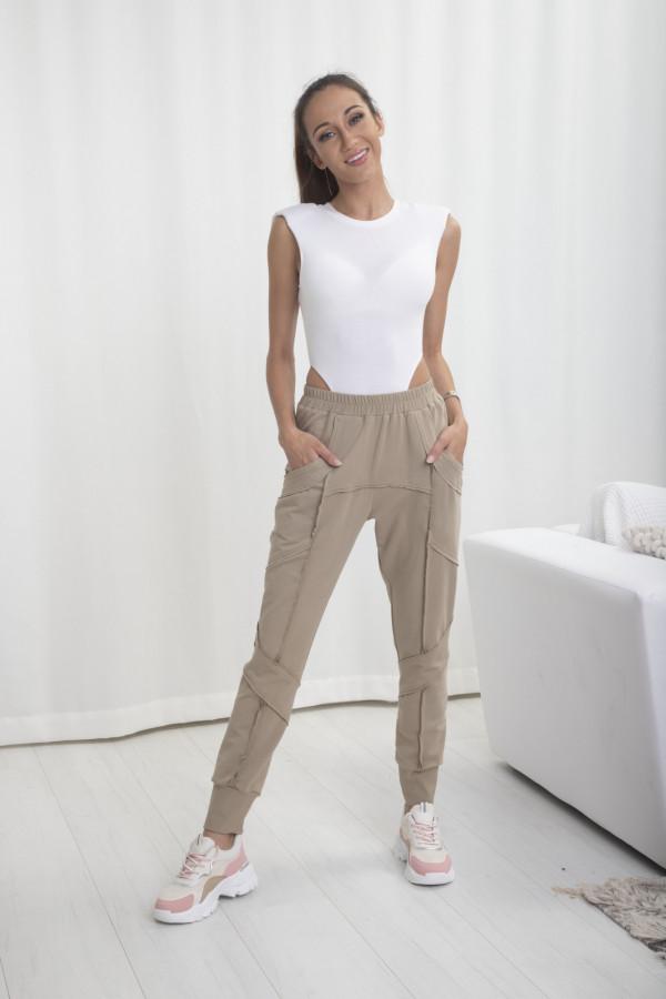 Spodnie dresowe Bella beż 065