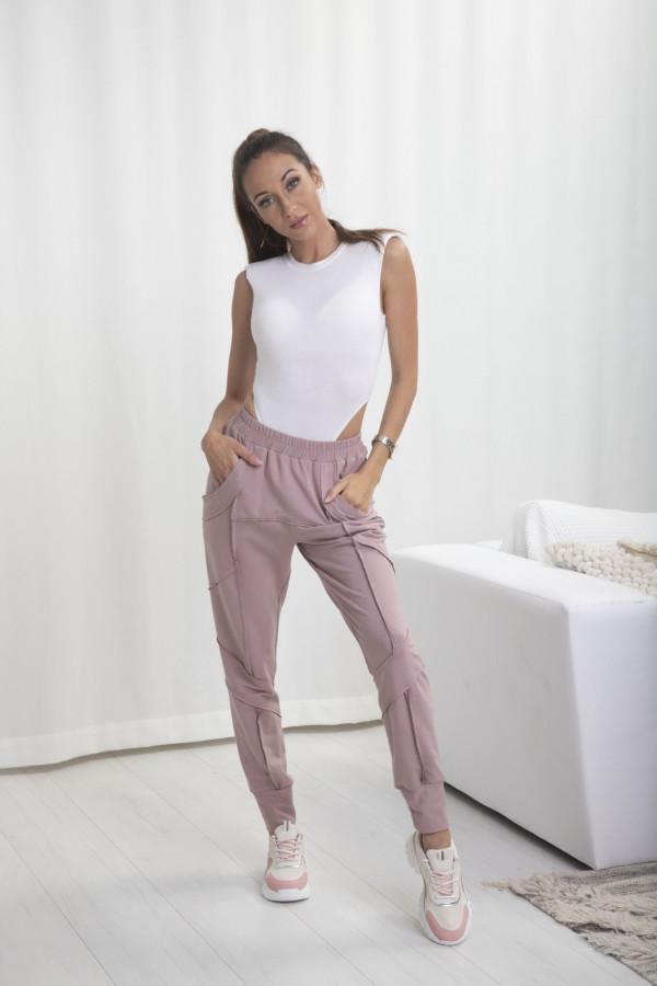 Spodnie dresowe Bella róż 065