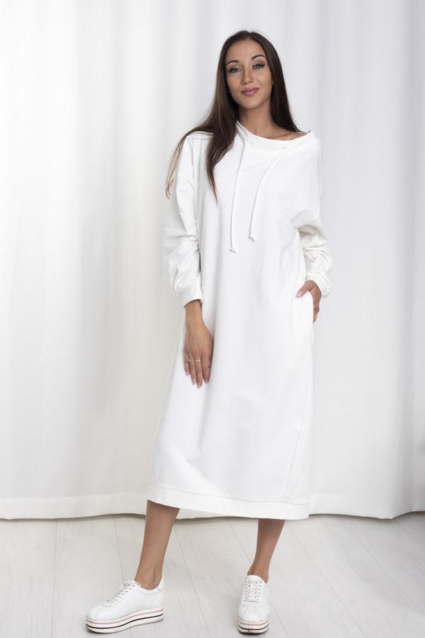 Sukienka dresowa Debby oversize biała 061