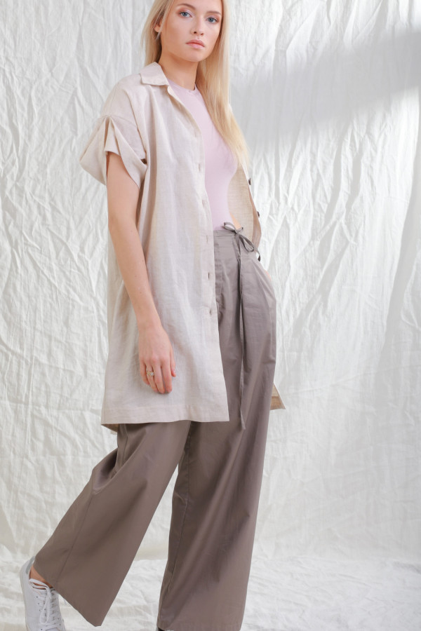 Długa koszula lniana Stjarna Naturalny Len 20a