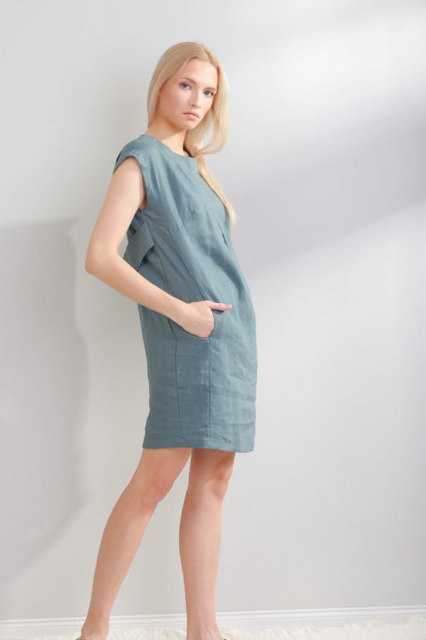 Sukienka lniana Liv Morski 054