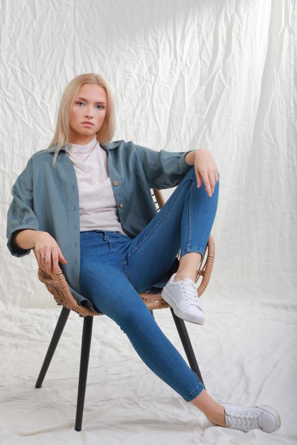 Koszula Lniana Sjo Morski 051